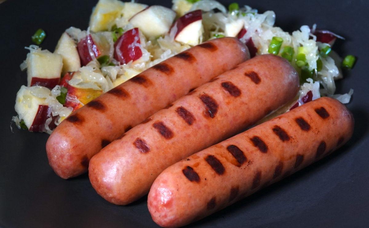 Jul 21: Knackwurst with Apple Sauerkraut Salad
