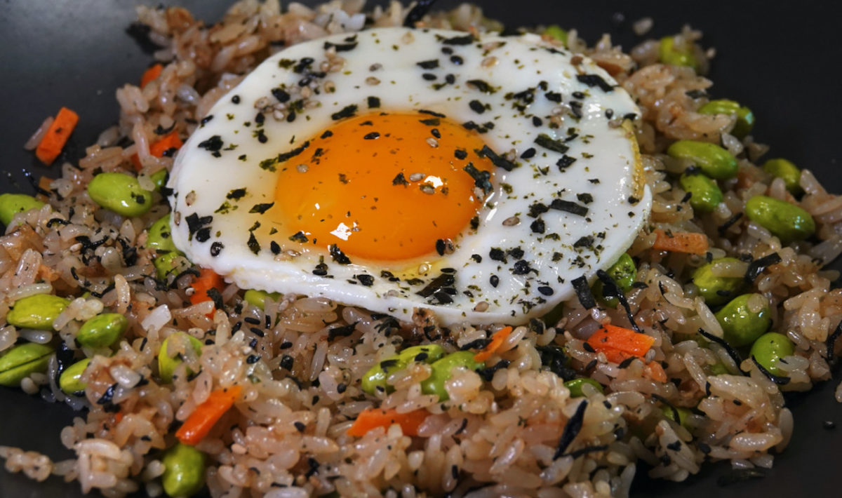 Jul 26: Japanese Fried Rice topped with a Fried Egg