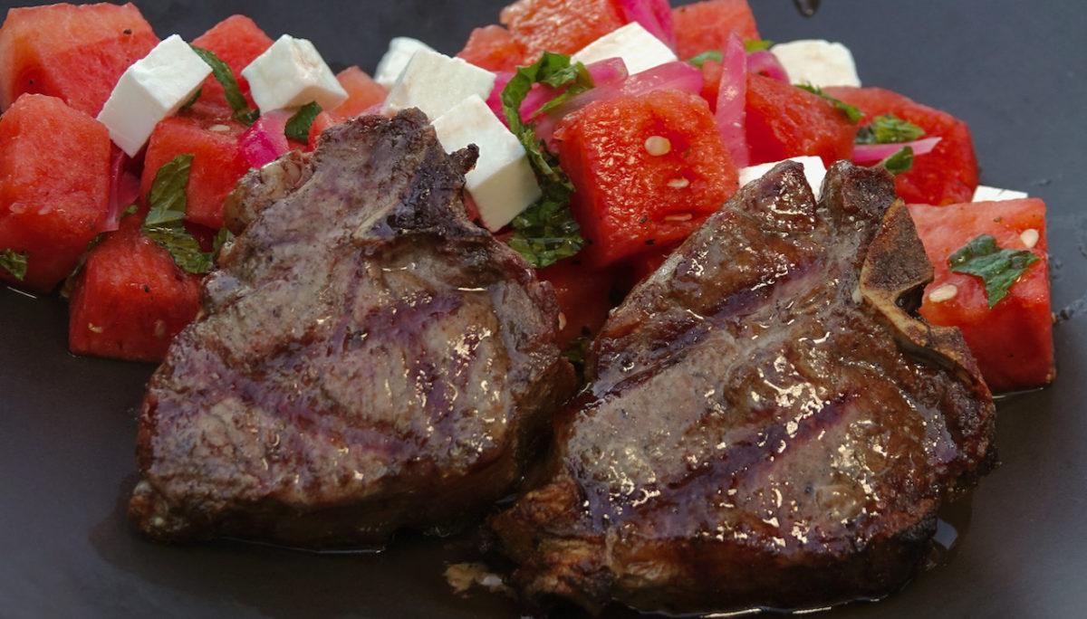 Jul 27: Lamb Loin Chops with Watermelon Salad