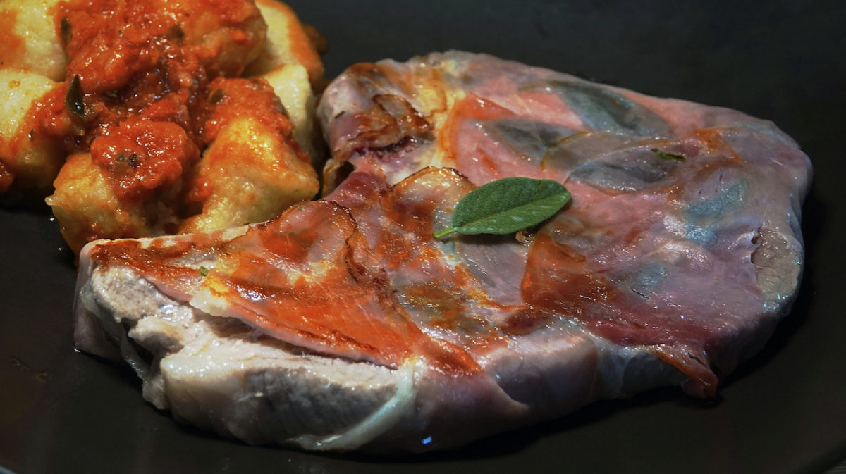Jul 28: Pork Saltimbocca with Cauliflower Gnocchi Marinara