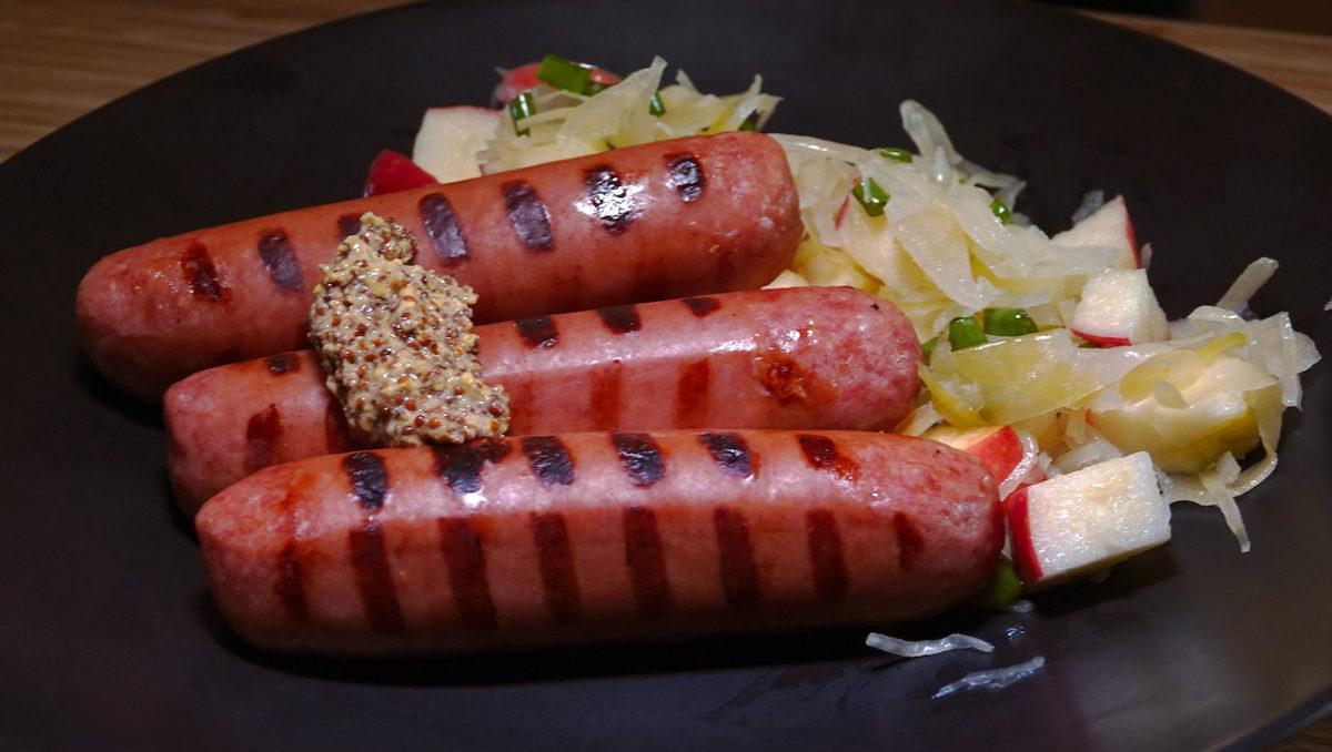 Aug 22: Knackwurst with Apple Sauerkraut Salad