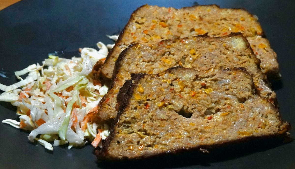 Sep 28: Turkey, Bacon, Chipotle Meatloaf with Cuban Beans and Coleslaw