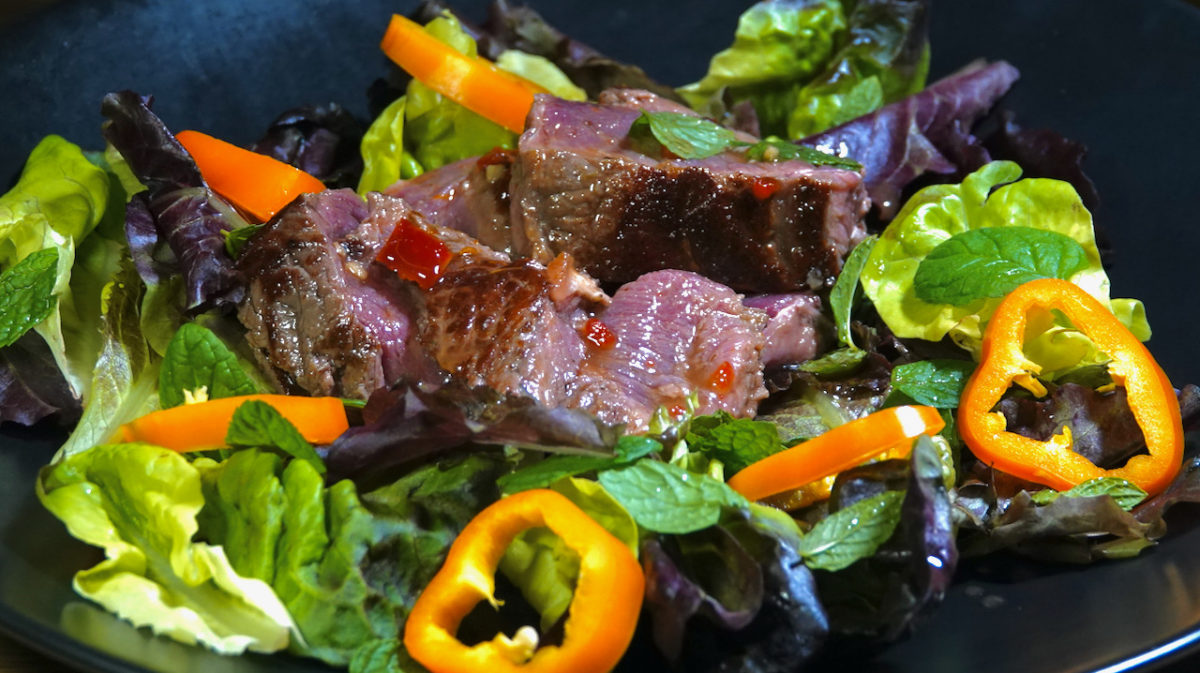 Oct 14: Hot and Sour Beef Salad