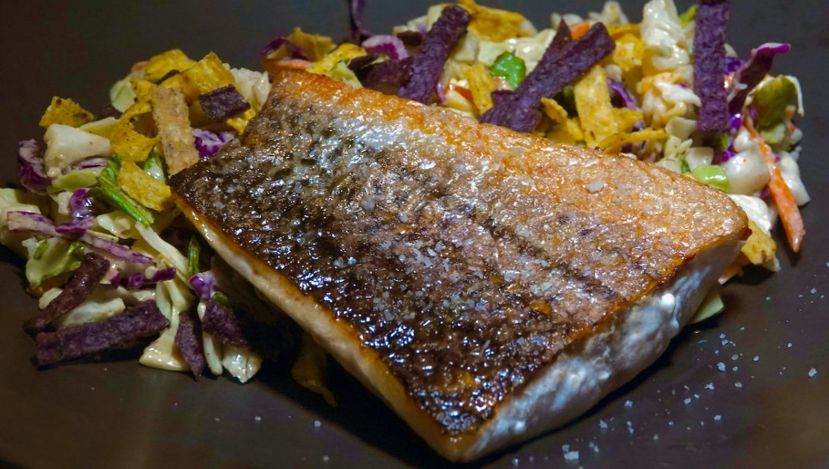 Oct 15: Striped Bass with Southwest Salad